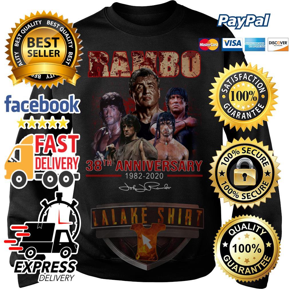 Rambo 38th anniversary 1982 2020 signature Sweater