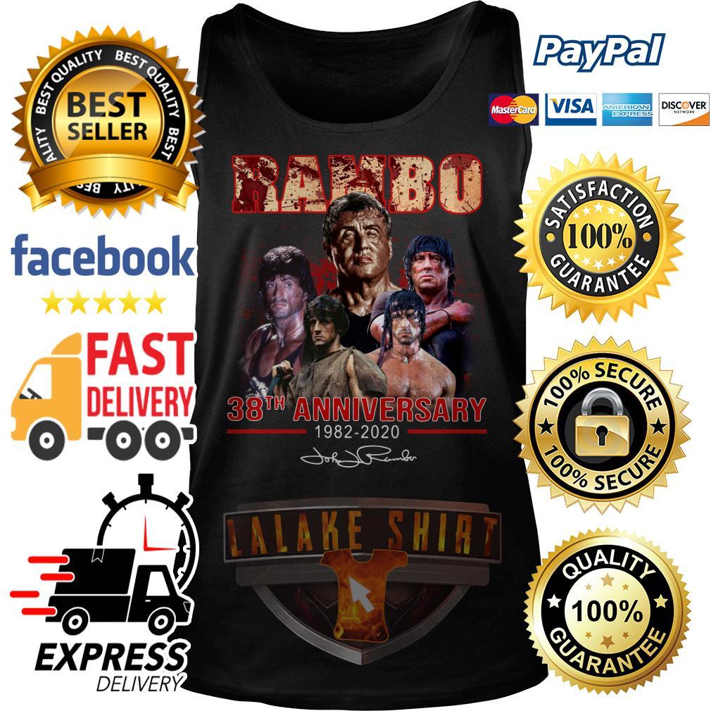 Rambo 38th anniversary 1982 2020 signature Tank Top