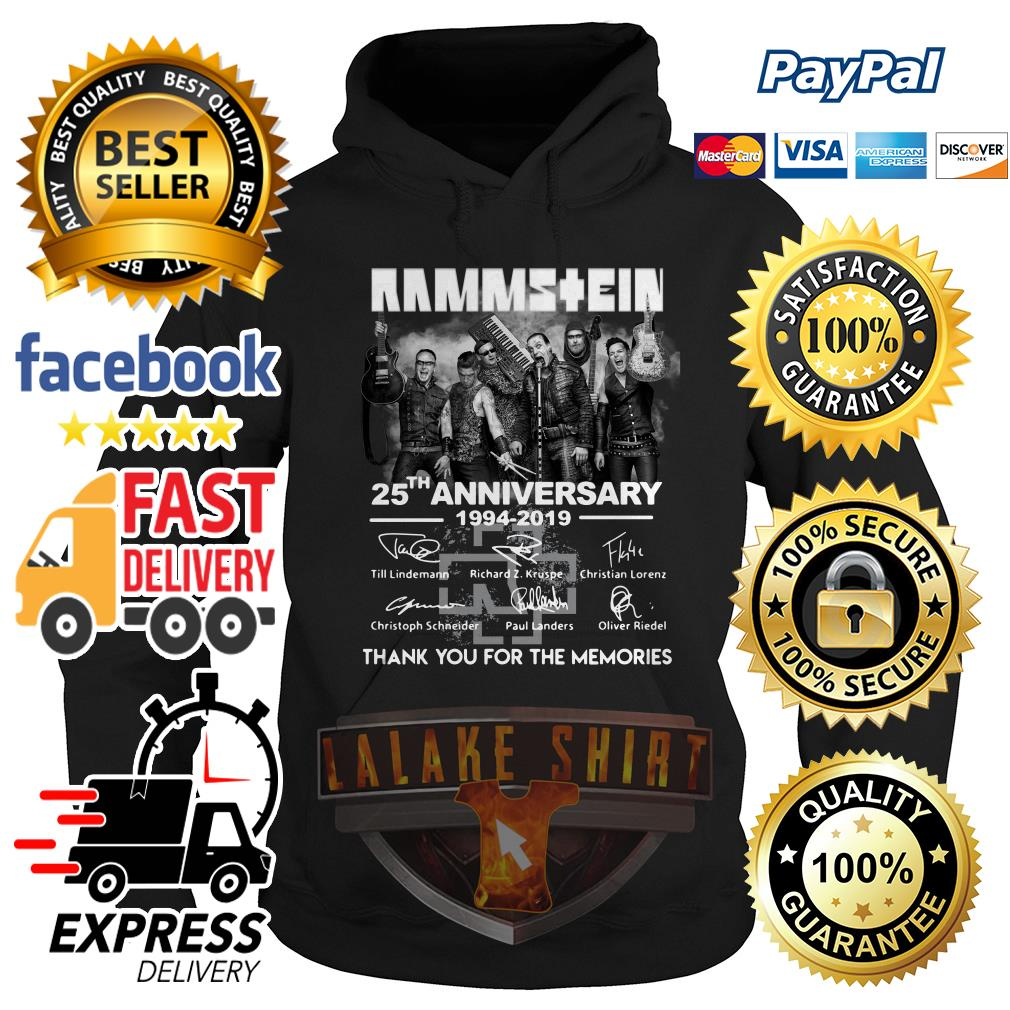 Rammstein 25th anniversary 1994 2019 thank you for the memories Hoodie