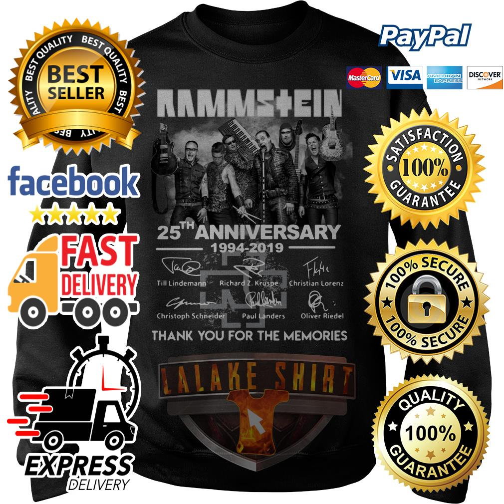 Rammstein 25th anniversary 1994 2019 thank you for the memories Sweater
