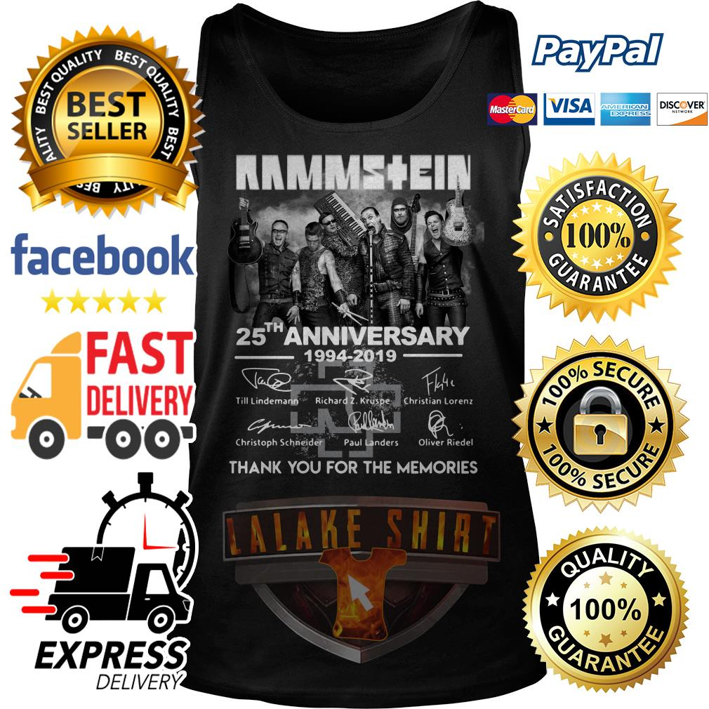 Rammstein 25th anniversary 1994 2019 thank you for the memories Tank Top
