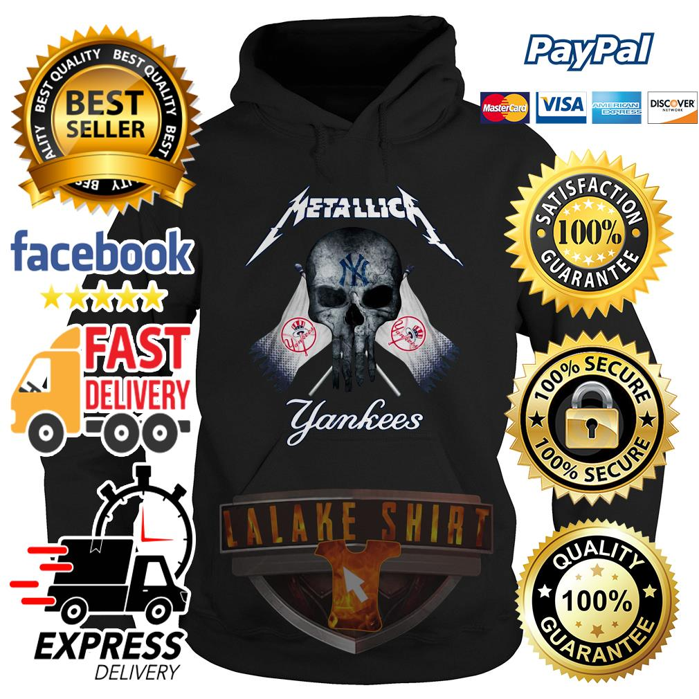 Skull Metallica New York Yankees hoodie
