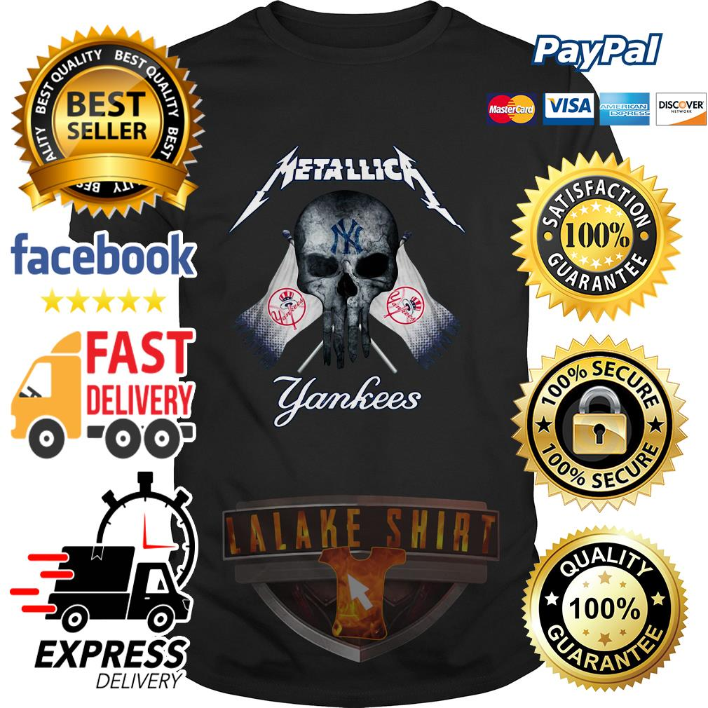 Skull Metallica New York Yankees shirt