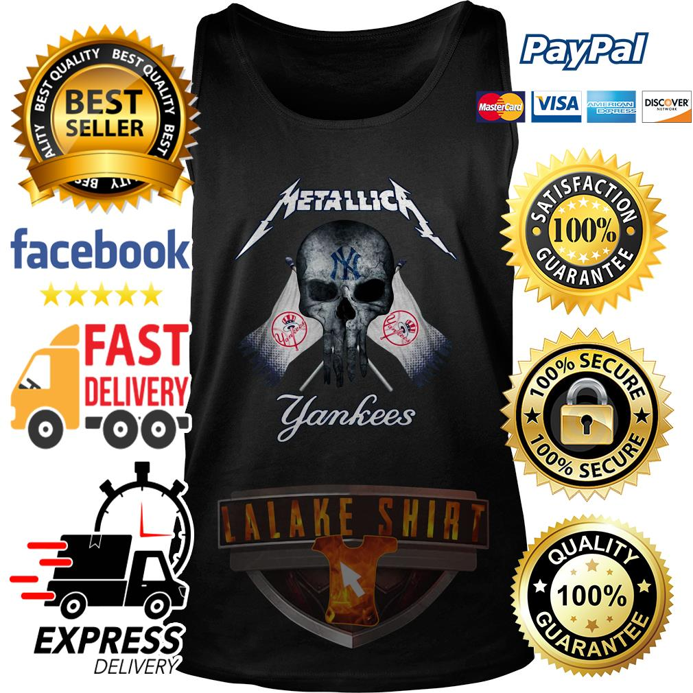 Skull Metallica New York Yankees tank top