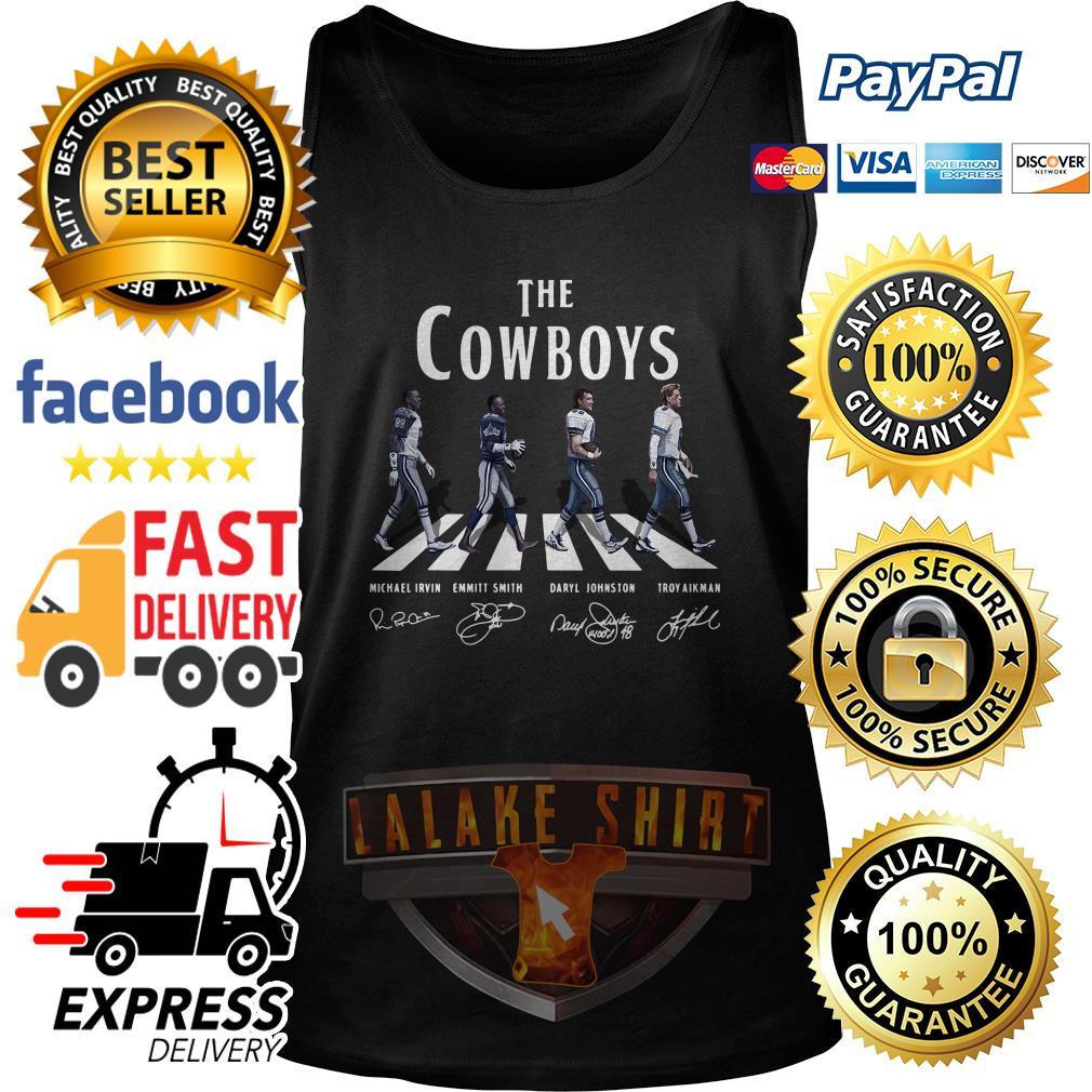 The Dallas Cowboy abbey road signature tank top