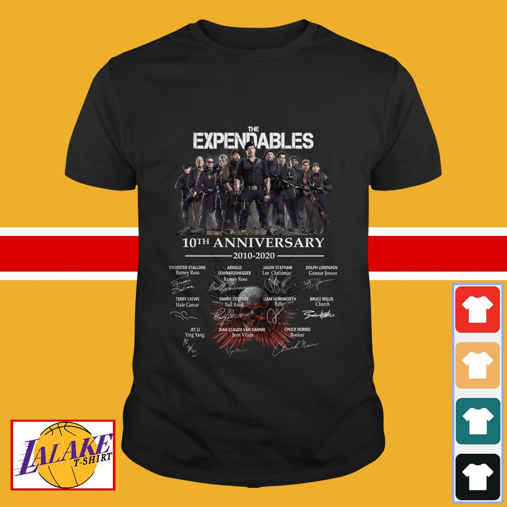 The Expendables 10th anniversary 2010 2020 signature shirt
