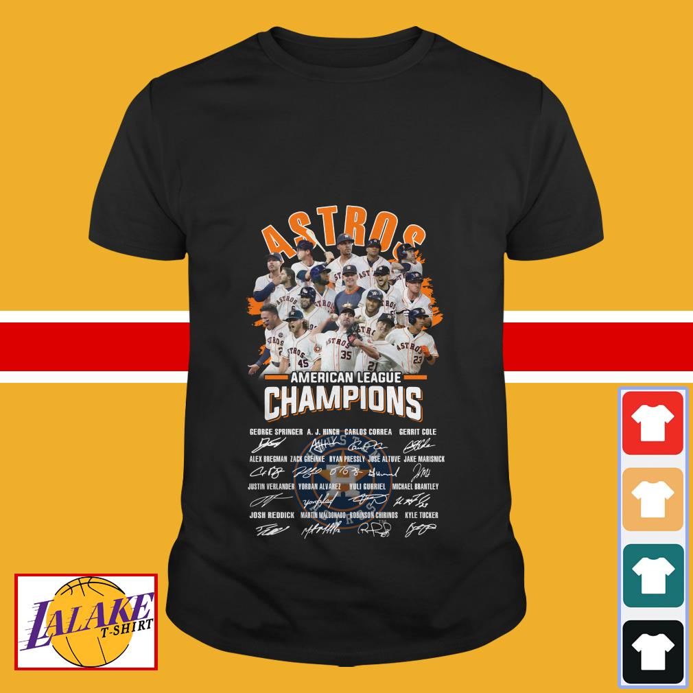 Astros American league champions signature shirt