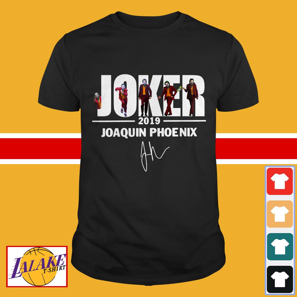 Joker 2019 Joaquin Phoenix signature shirt