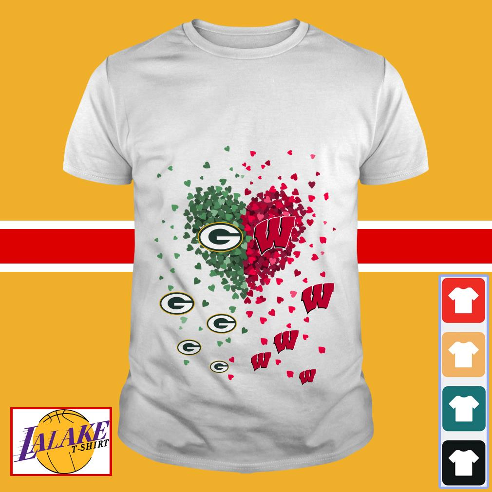 Love Green Bay Packers and Washington Nationals shirt