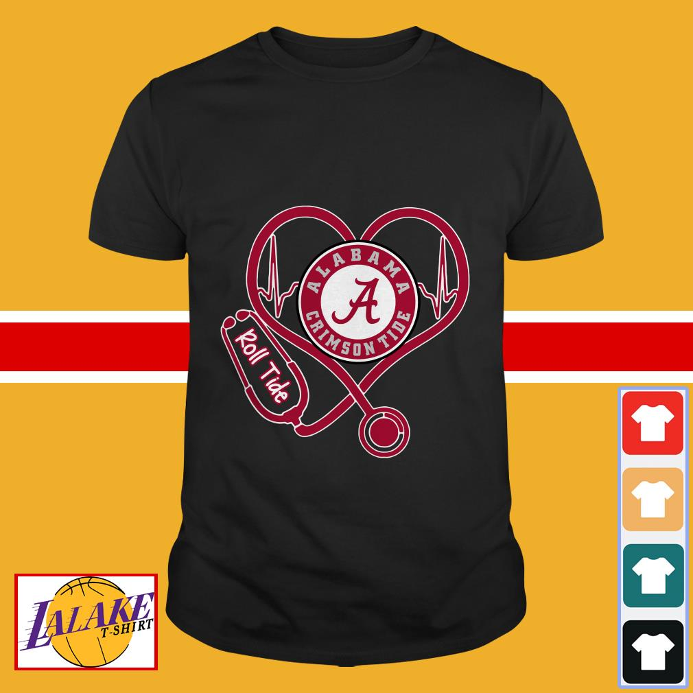 Nurse Heartbeat Love Alabama Crimson Tide Roll tide shirt