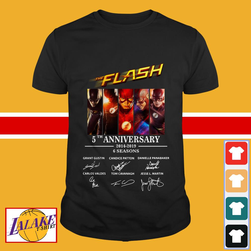 Official The Flash 5th anniversary 2014 2019 6 seasons signature shirt