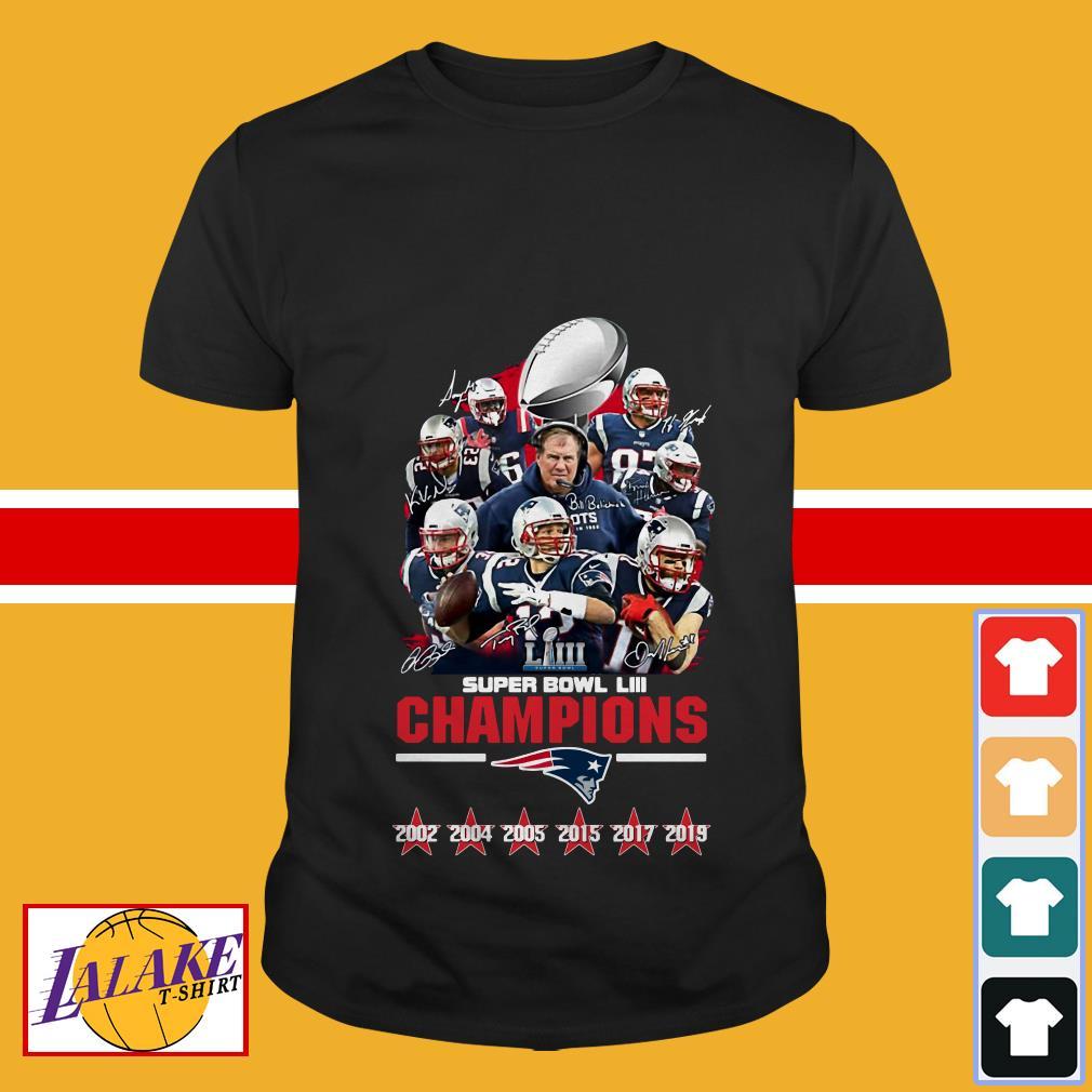 Patriot New England Super Bowl LIII Champions Signatures shirt