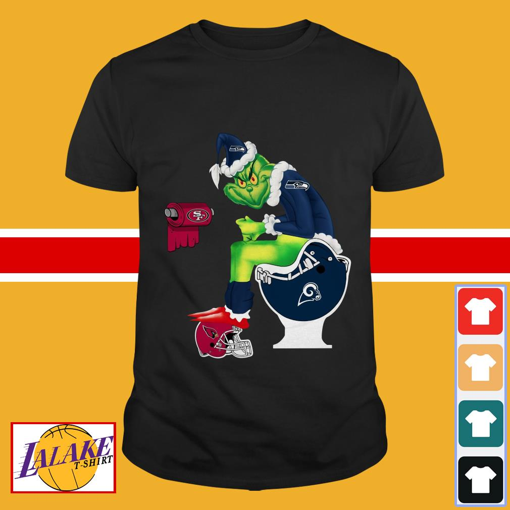 Grinch Seattle Seahawks San Francisco 49ers Los Angeles Rams Arizona Cardinals shirt