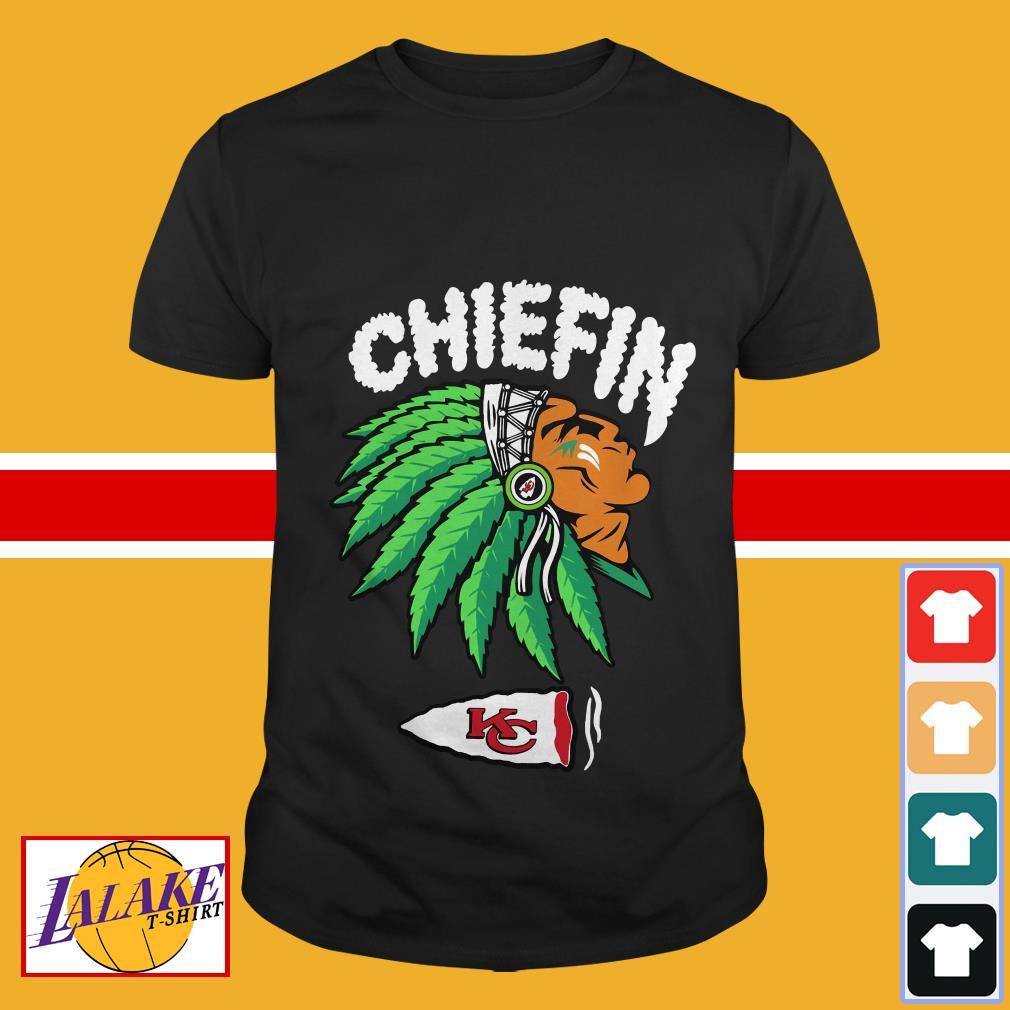 Kansas City Chiefs Chiefin weed smoking shirt