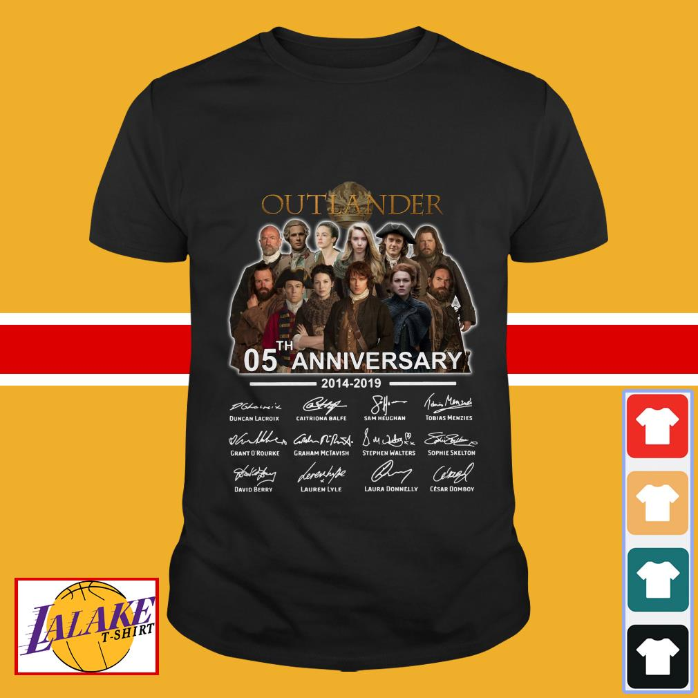 Outlander 05th anniversary 2014 2019 signatures shirt