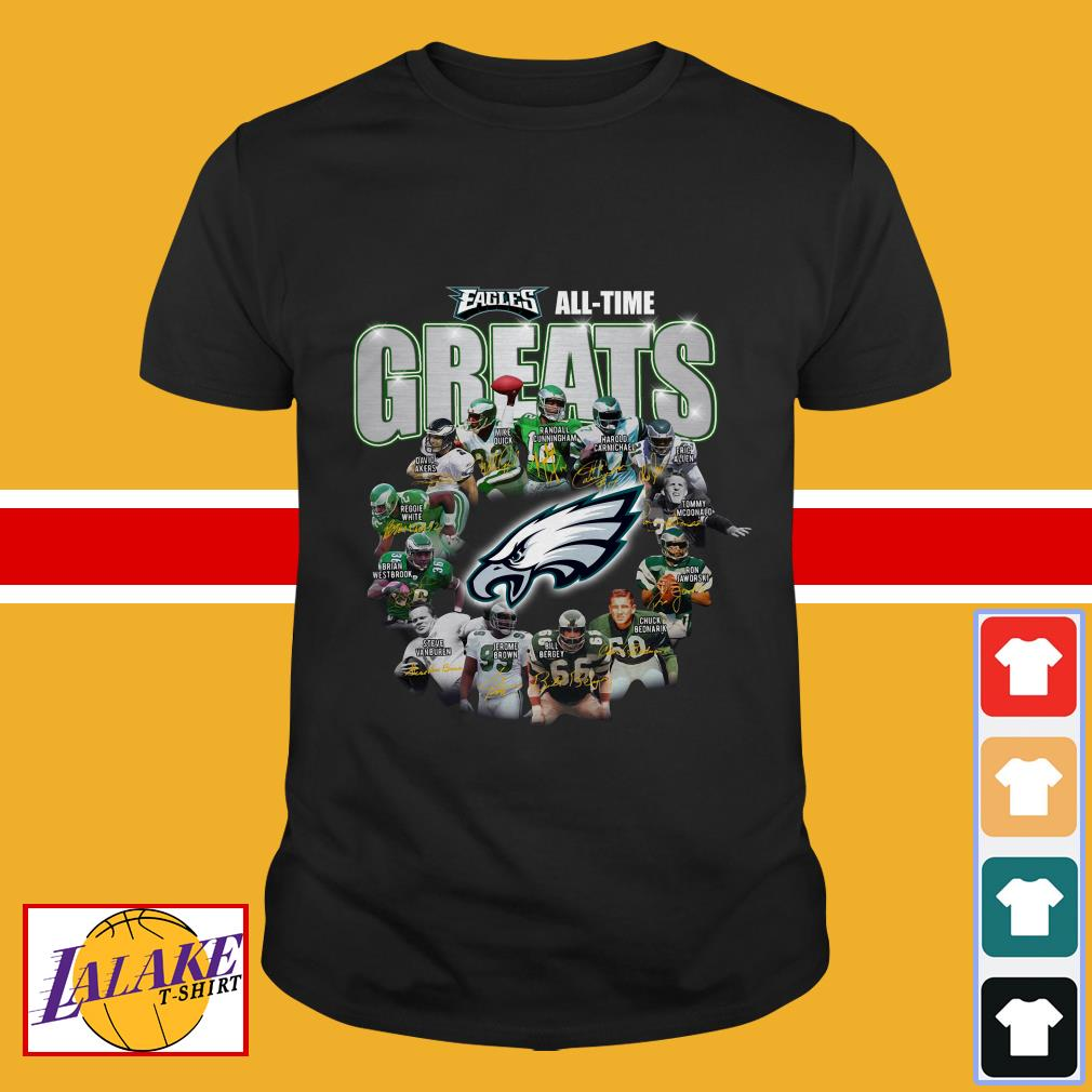 Philadelphia Eagles all time greats team signatures shirt