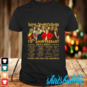 Mrs Brown's Boys 10th anniversary 2011 2021 signature thank you for the memories shirt