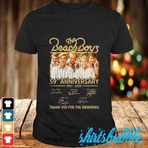 The Beach boys 59th anniversary 1962 2020 signature thank you for the memories shirt