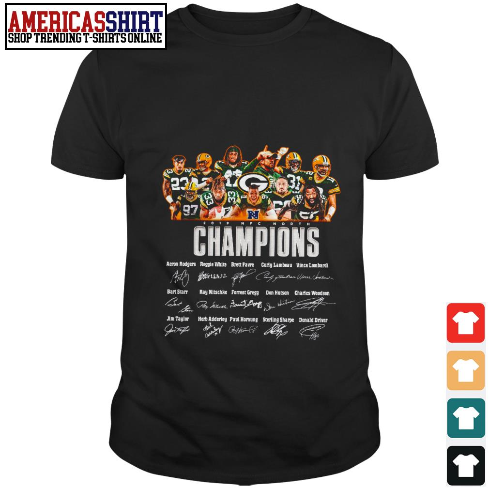 Green Bay Packers 2019 NFC North Champions signatures shirt