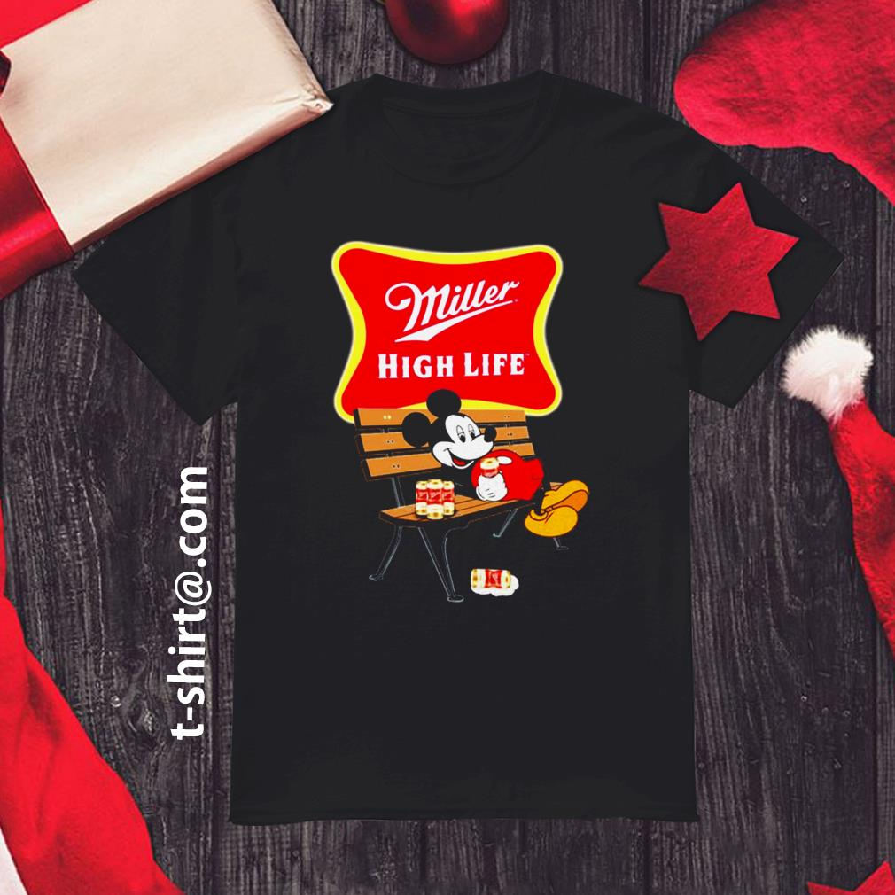 Mickey mouse drink Miller High Life shirt
