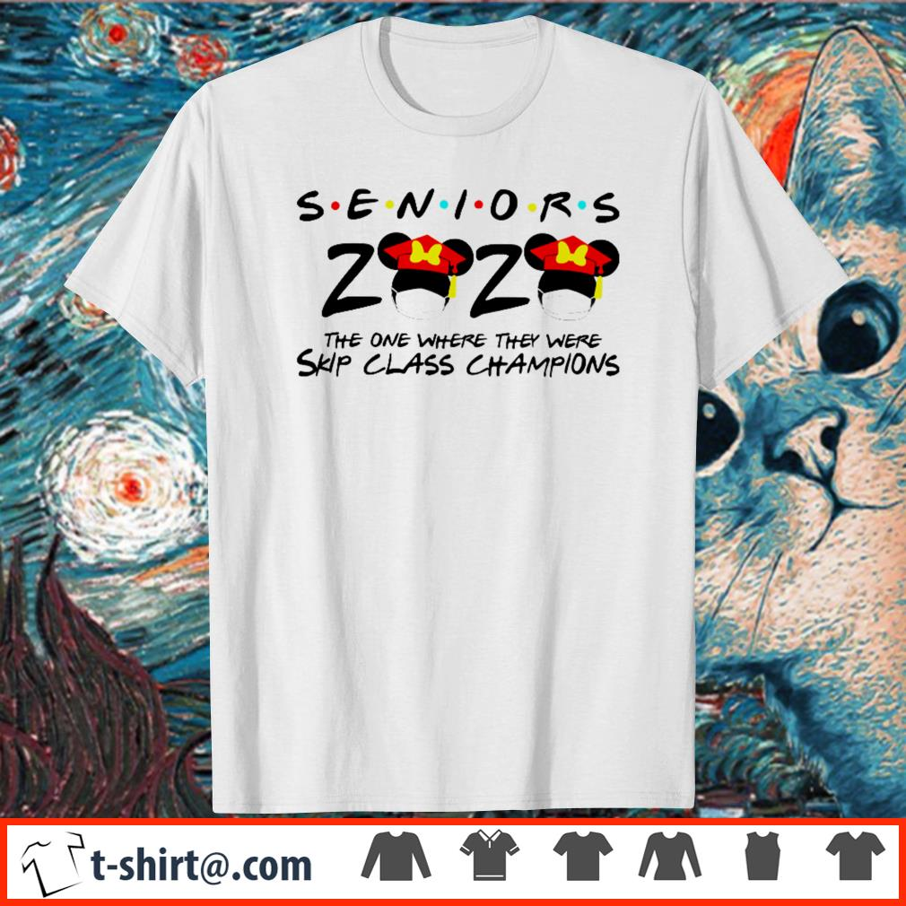 Minnie Mouse seniors 2020 the one where they were skip class champions shirt
