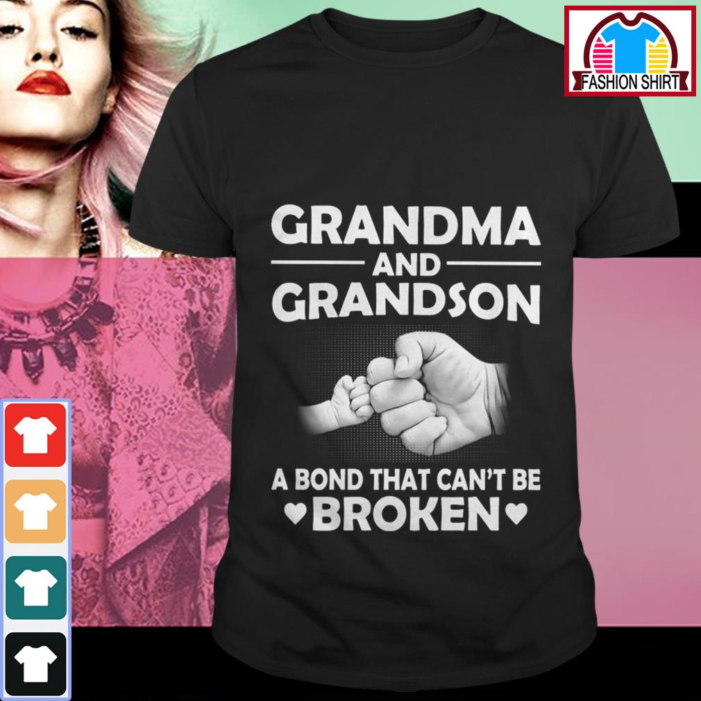 Official Grandma and grandson a bond that can't be broken shirt by tshirtat store