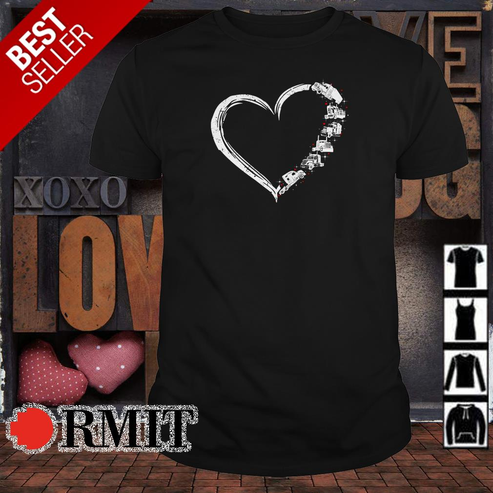Heart we love truck shirt