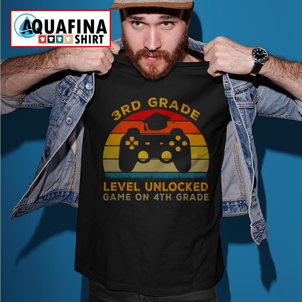 3rd Grade level unlocked game on 4th grade vintage shirt
