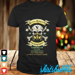 Black & Abbath 2020 pandemic Covid 19 in case of emergency cut this shirt