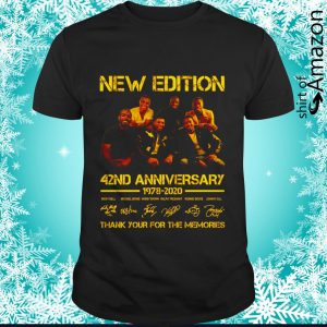 New Edition 42nd anniversary 2078 2020 signature thank you for the memories shirt