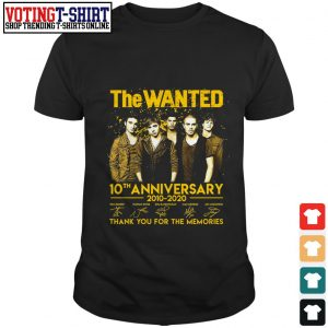 The wanted 10th anniversary 2010 2020 signature thank you for the memories shirt
