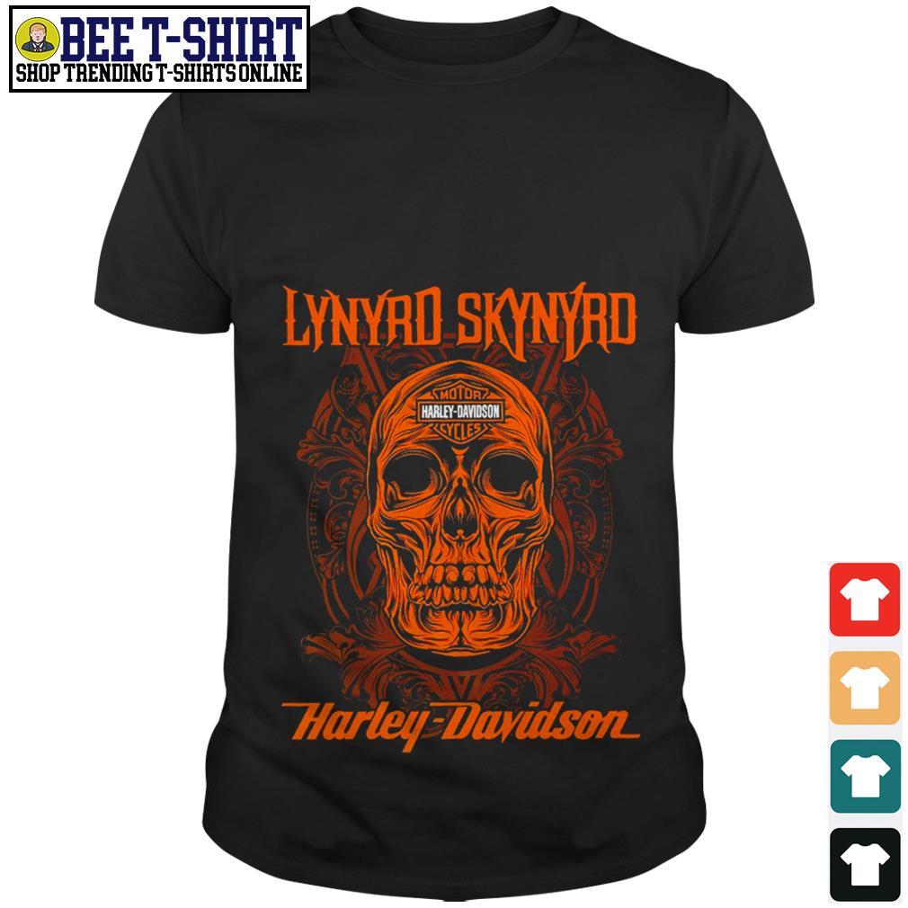 Lynyrd Skynyrd band skull Motor Harley Davidson shirt