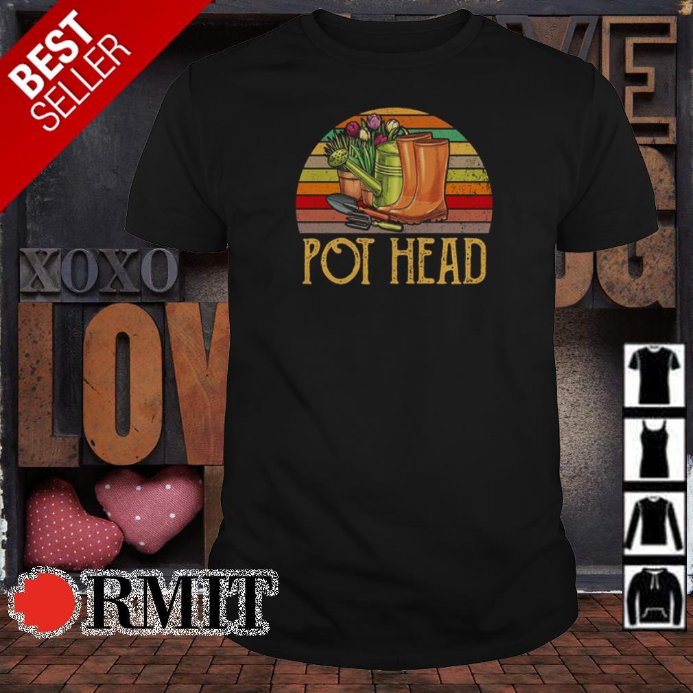 Retro sun pot head gardening shirt