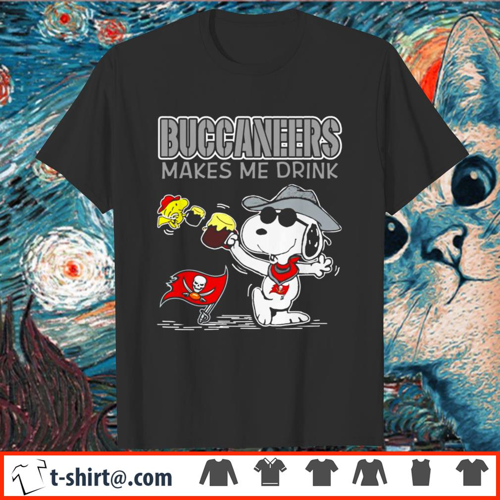 Tampa Bay Buccaneers makes me drink Snoopy shirt