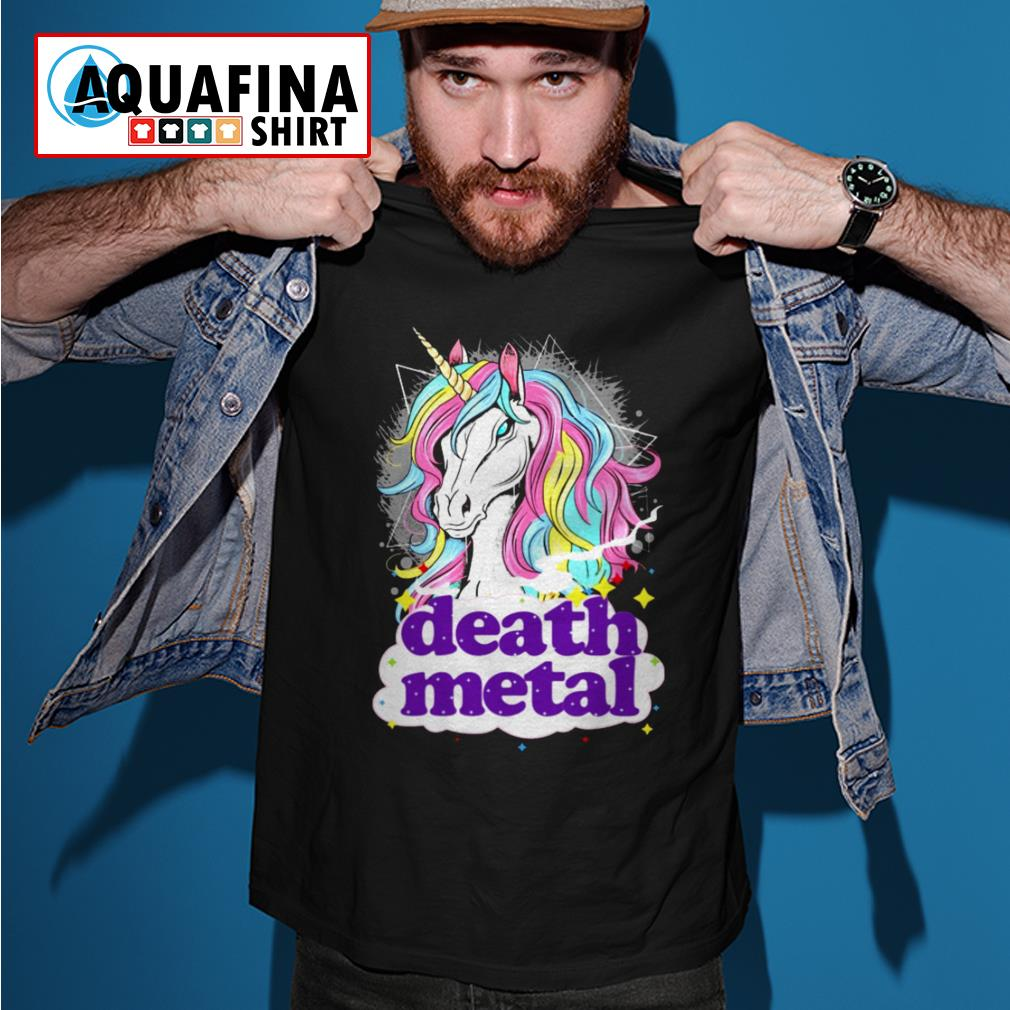 Unicorn death metal shirt