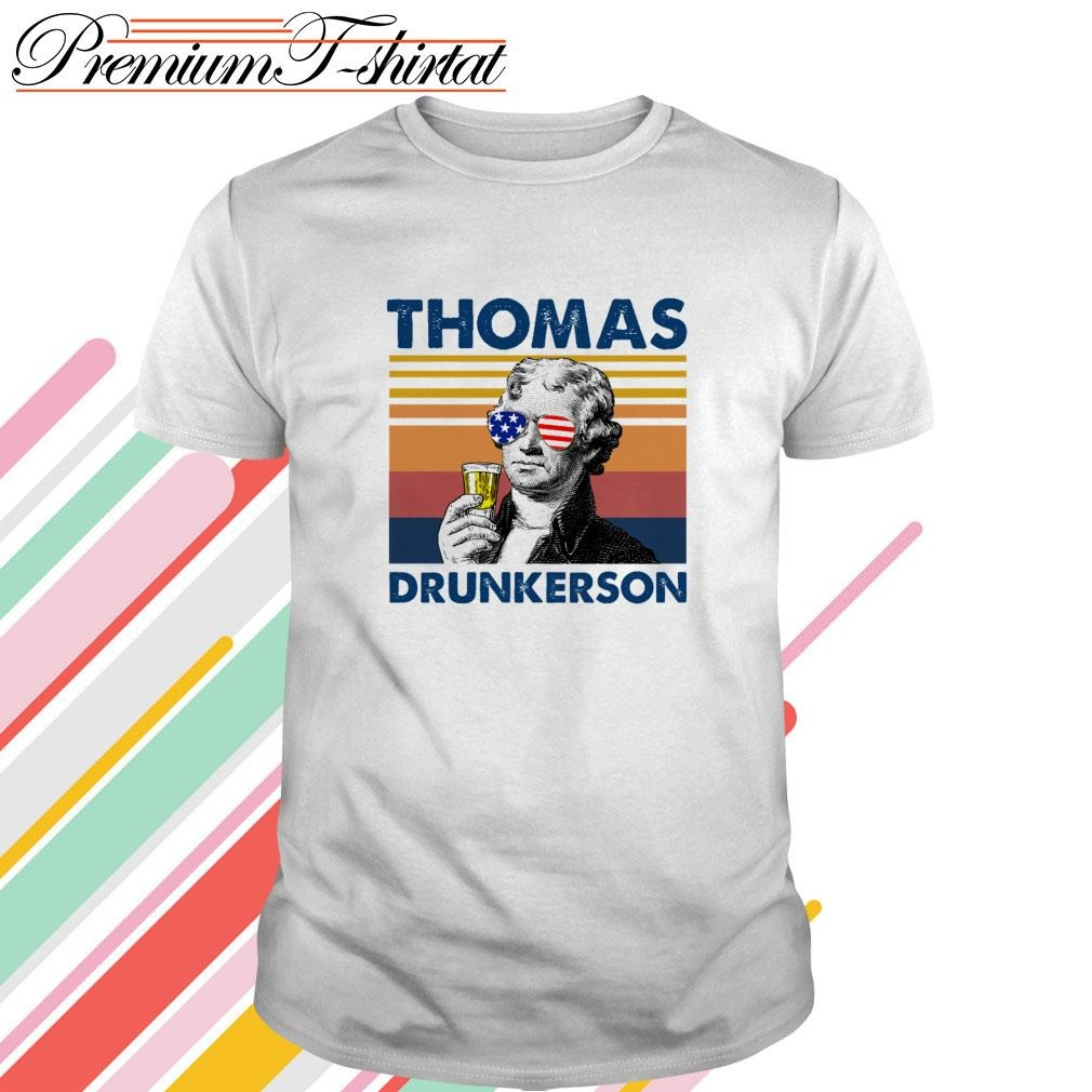 Vintage Thomas drunkerson drink beer the 4th of July shirt
