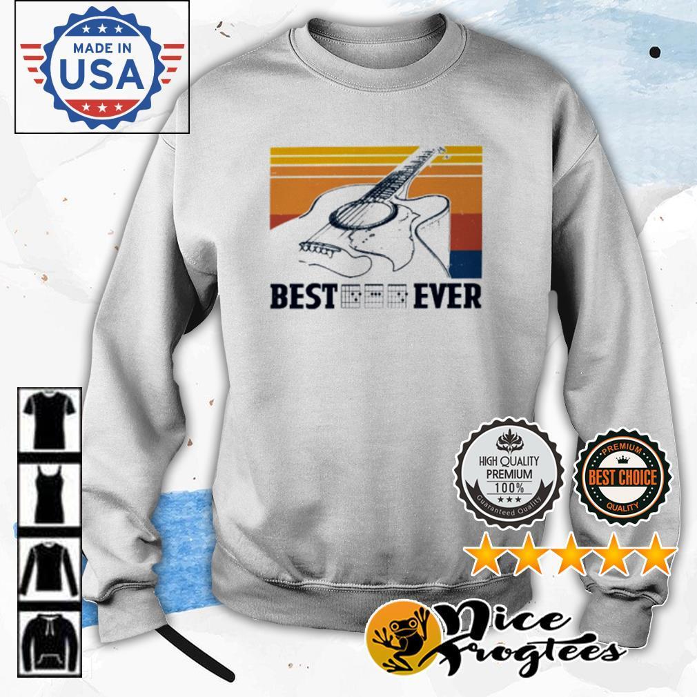 Guitar best dad ever vintage shirt