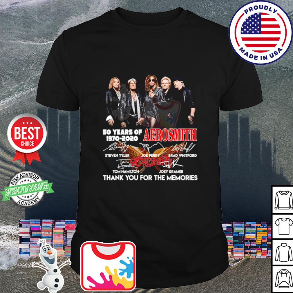 50 years of Aerosmith 1970 2020 thank you for the memories signature shirt