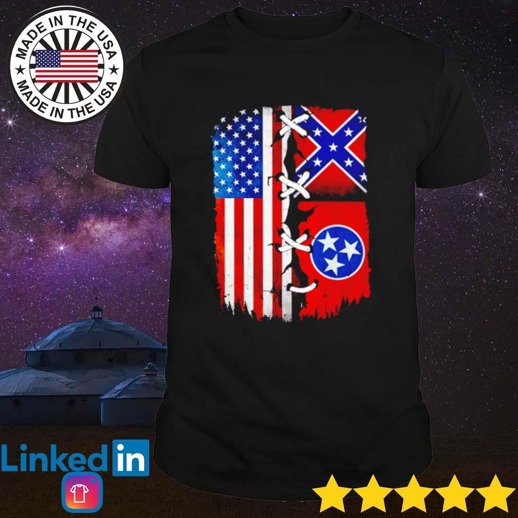 Tennessee Mississippi and American Flag shirt