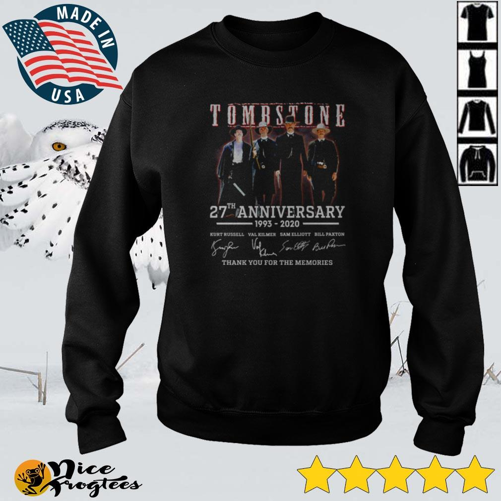 Tombstone 27th anniversary thank you for the memories signature shirt