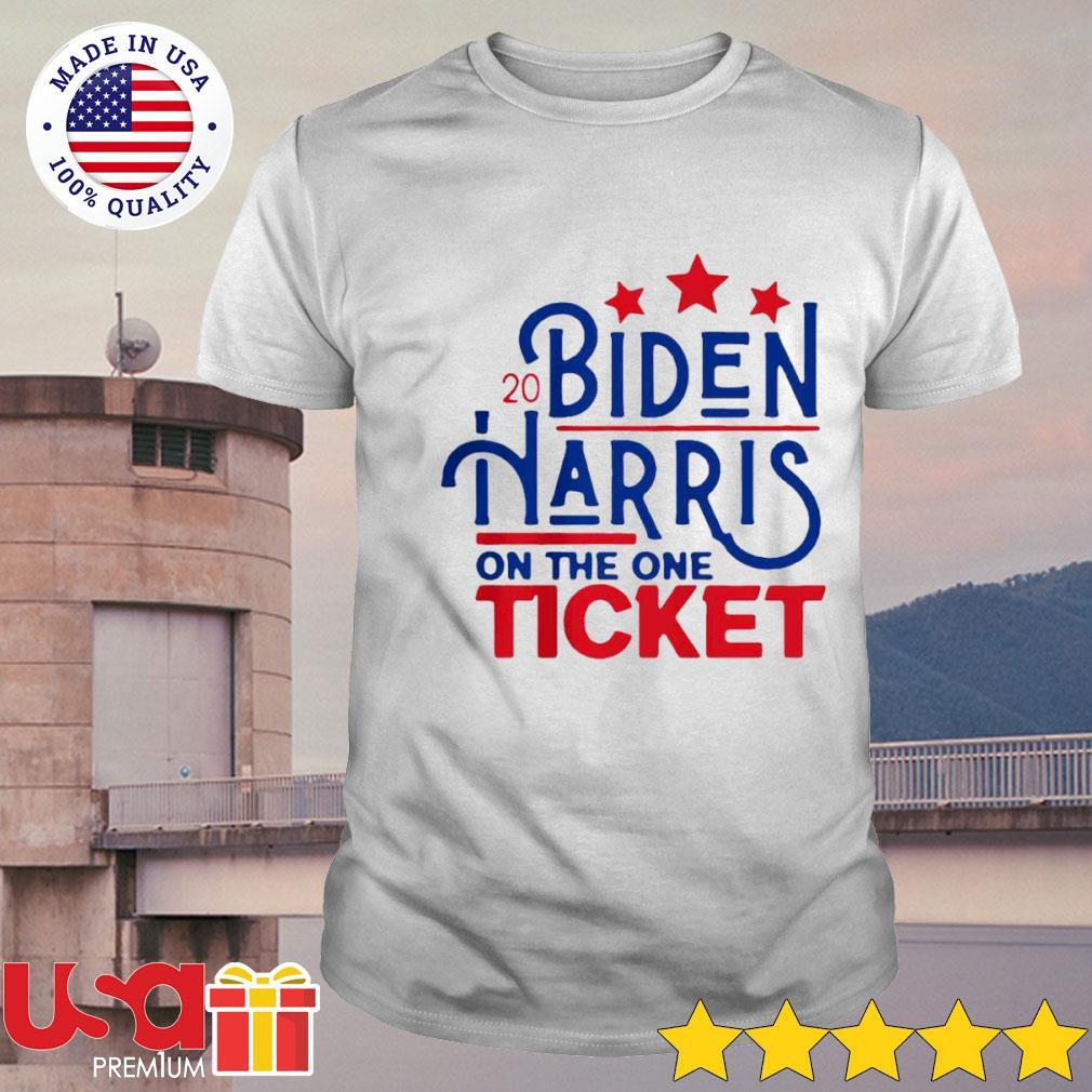2020 Joe Biden Kamala Harris on the one ticket stars shirt