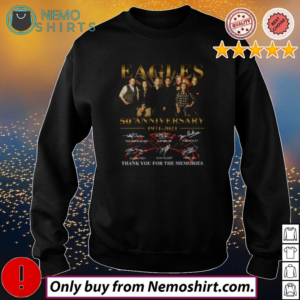 Eagles 50th anniversary 1971 – 2021 thank you for the memories shirt