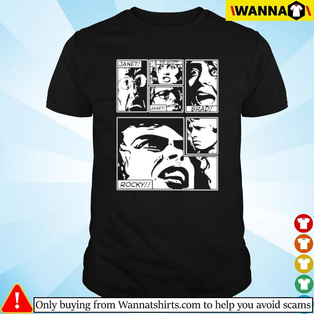 The Rocky Horror Picture Show Janet Dr Scott Janet Brad Rocky shirt