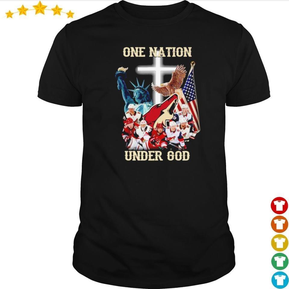 Arizona Coyotes one nation under God American Flag shirt