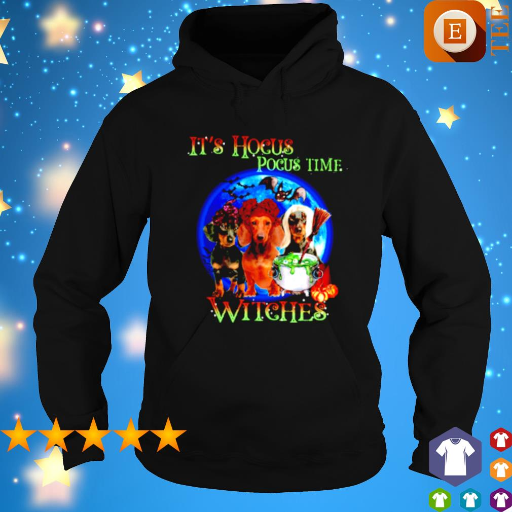 Top Dachshund it's Hocus Pocus time witches shirt