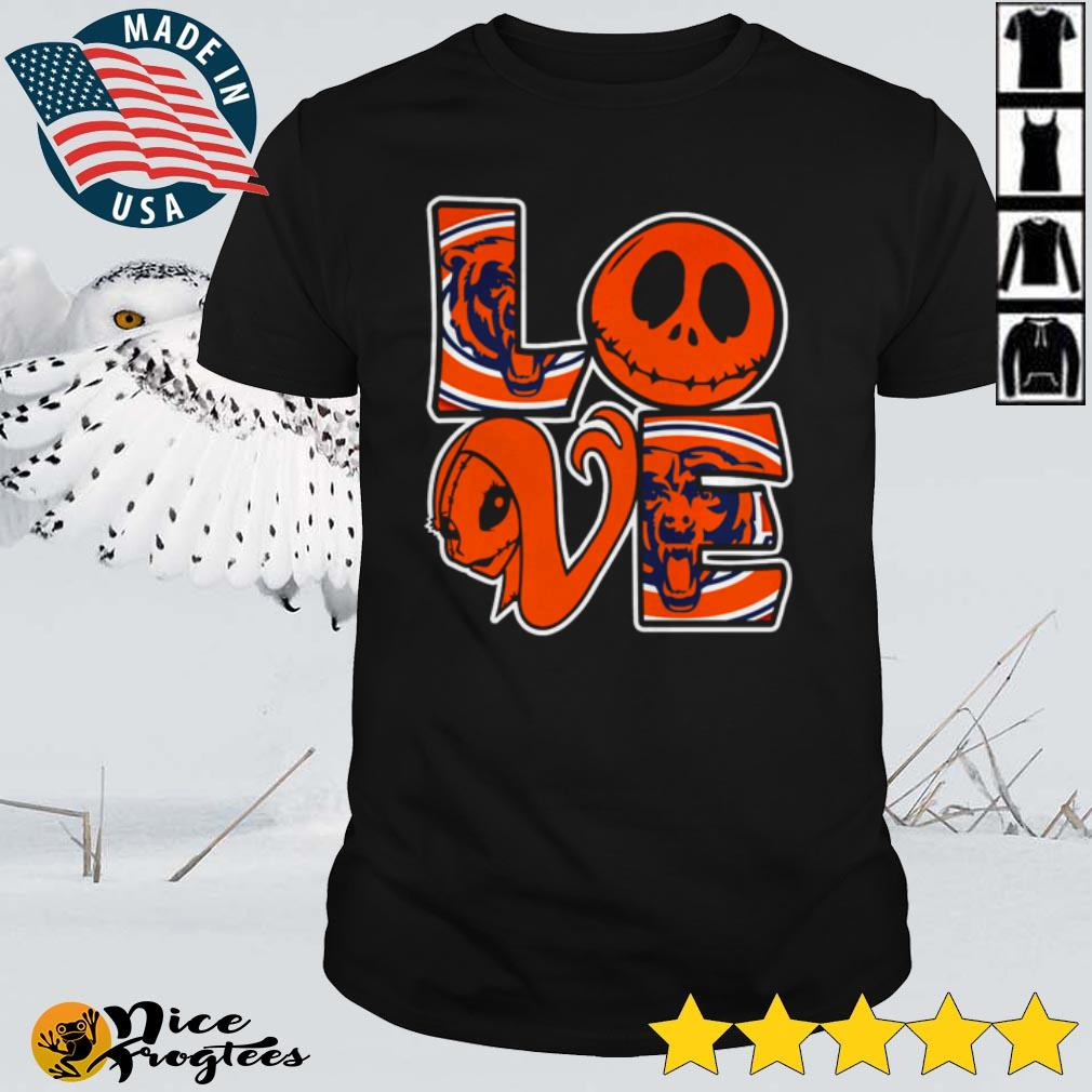 Top Jack Skellington and Sally love Chicago Bears shirt