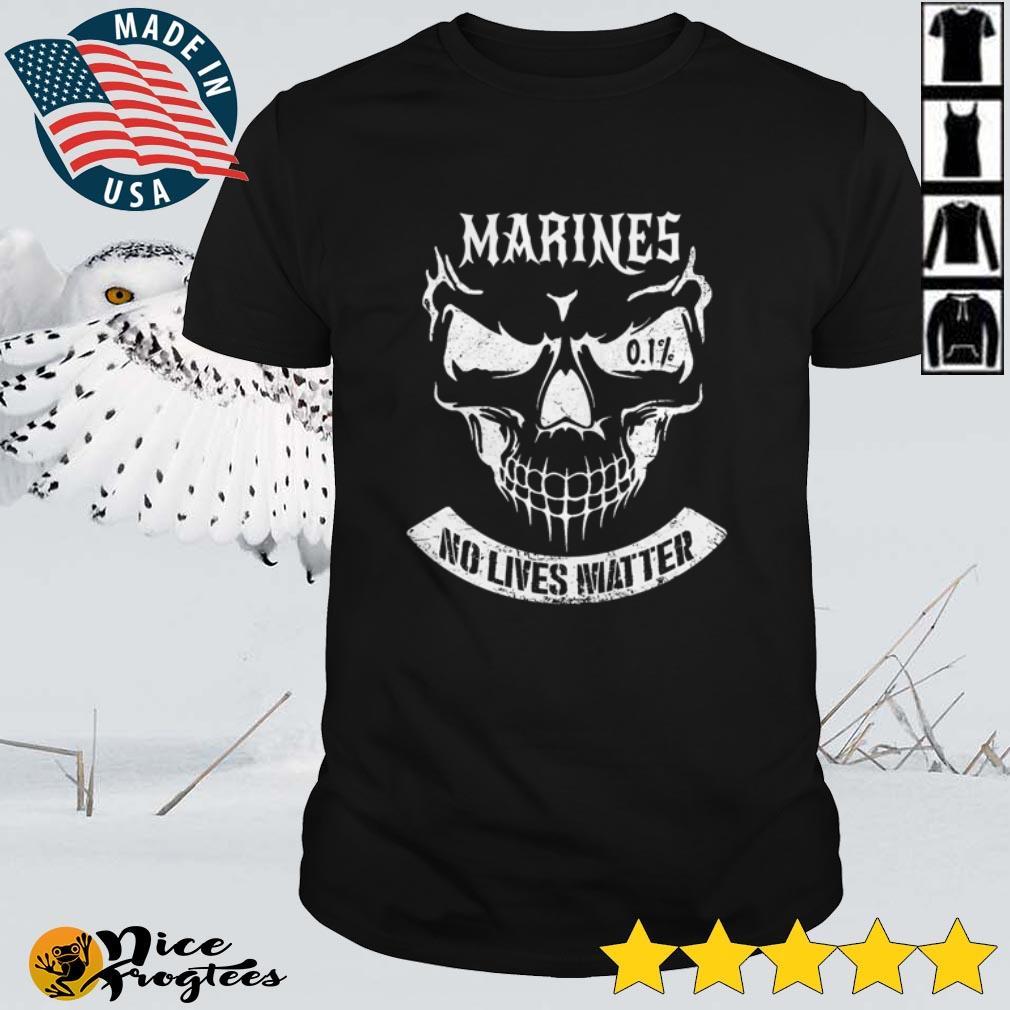 Top Marines no lives matter skull shirt