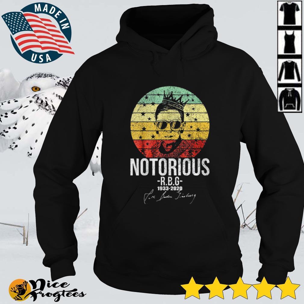 Top Notorious Ruth Bader Ginsburg 1933 – 2020 signatures vintage shirt