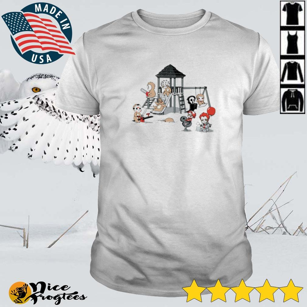 Top Sloths as Horror Movies Character playing slide Halloween shirt