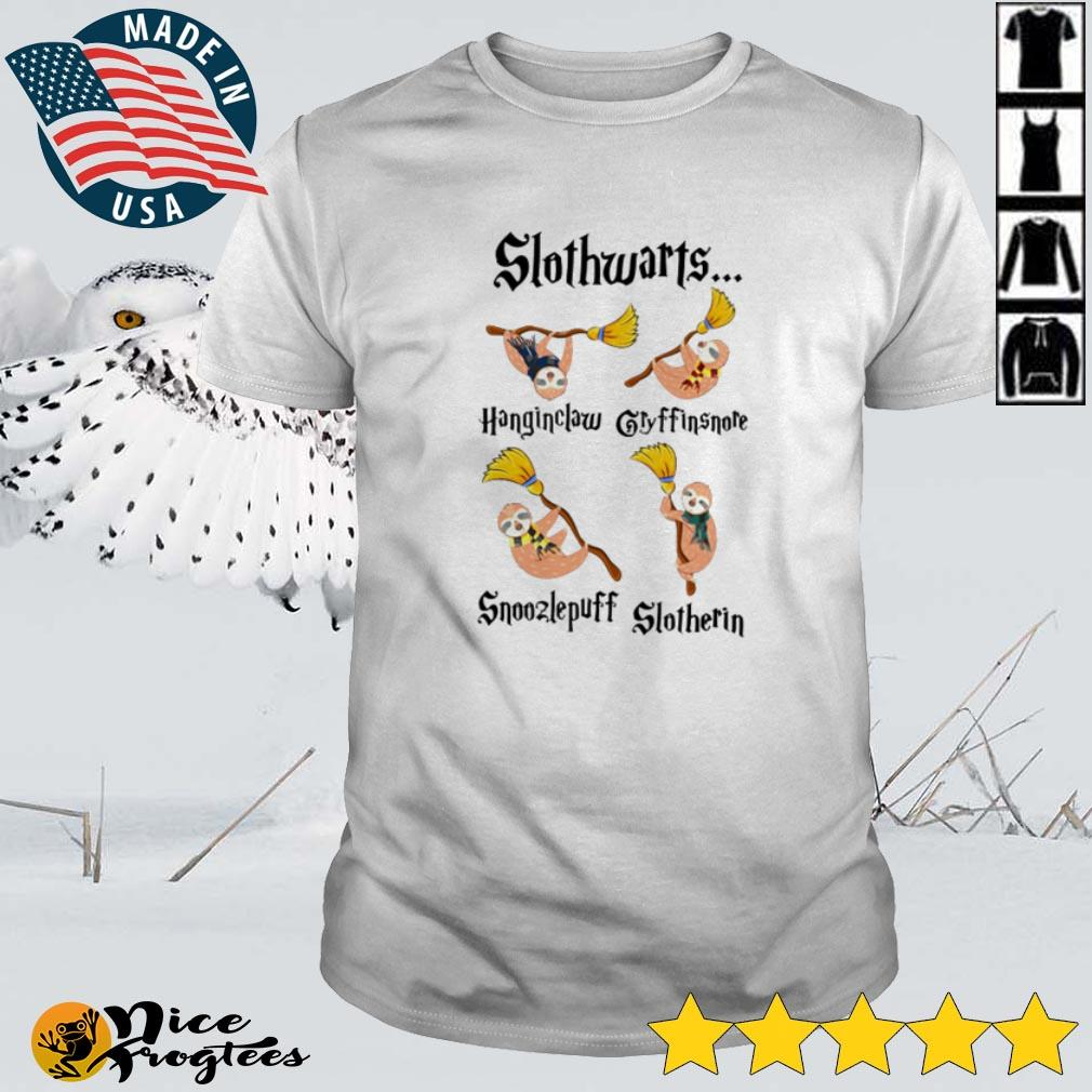 Top Slothwarts Gryffinsnore Hanginclaw Snoozlepuff Slotherin shirt